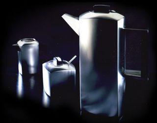 2. Kaffeeservice mit Ebenholz