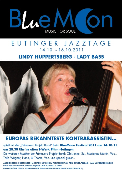 Flyer - Bluemoon Festival 2011 - Lindy Huppertsberg
