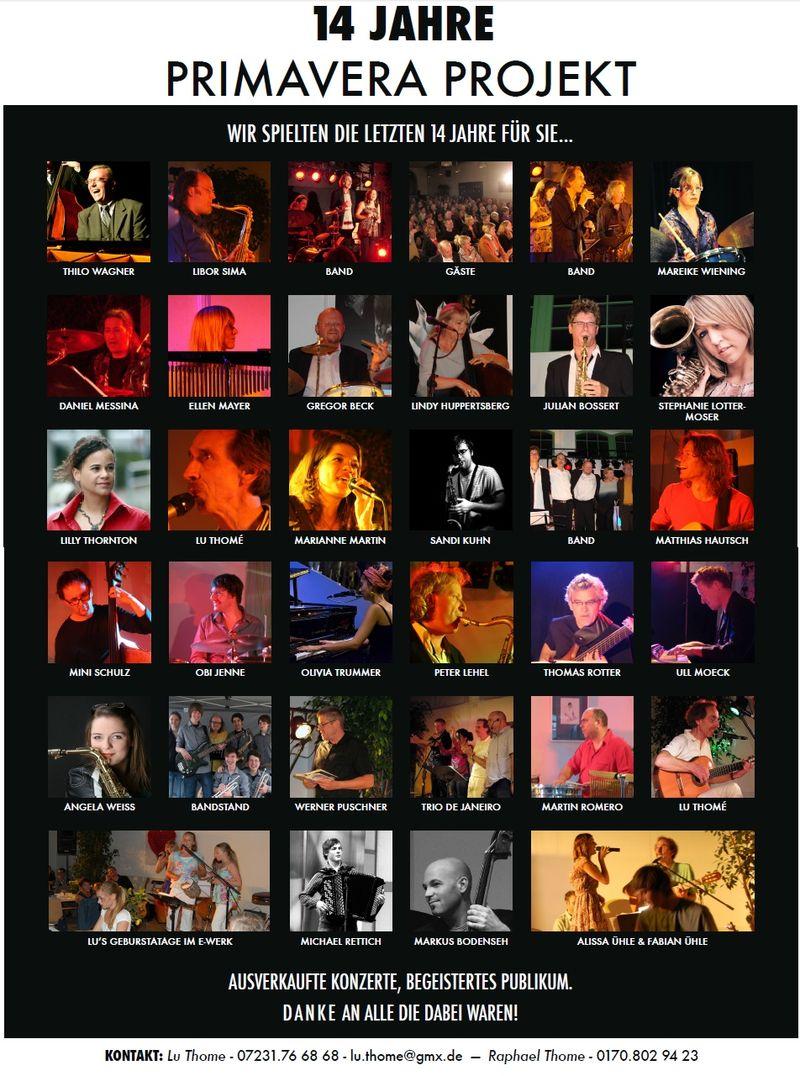 Flyer - Primavera 14 Jahre Plakat neutral